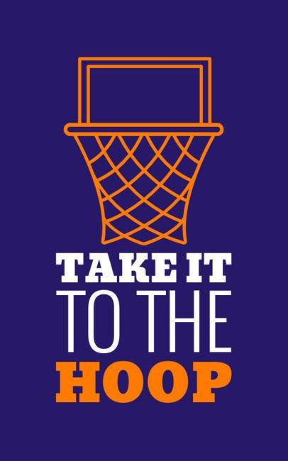 Basketball T-ShiBasketball T-Shirt Design Maker for NBA Fans 1152l