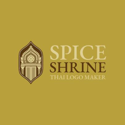 Logo Maker with Thai Graphics for a Thai Cuisine 1843a