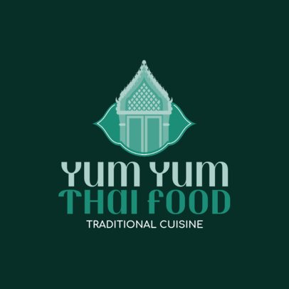 Logo Design Template For a Traditional Thai Kitchen 1843e