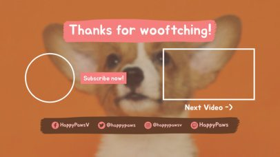 Pet-Themed YouTube End Screen Maker for Vloggers 1436