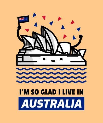 Aussie T-Shirt Design Template 1407e