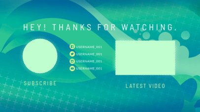 YouTube End Screen Template with a Dynamic Flat Design 1266a