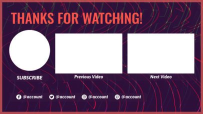 YouTube End Screen Template with a More Videos Panel 1429d