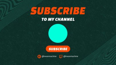 YouTube End Screen Template with an Invitation to Subscribe 1439b