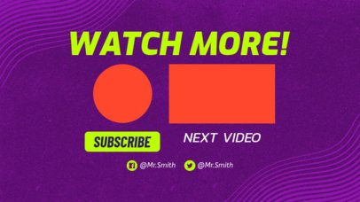 Vibrant YouTube End Card Design Template 1439c