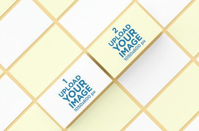 Business Card Mockup with a Grid Pattern 46 el