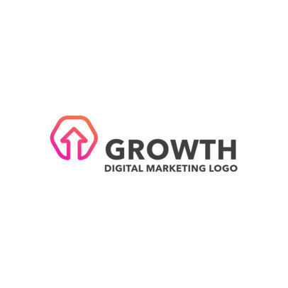 Logo Creator for Digital Marketing with a Gradient Graphic 2230b