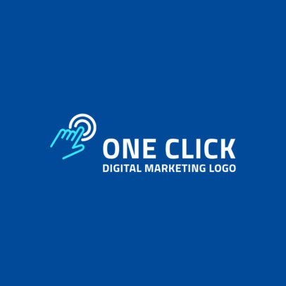 Logo Maker for a Digital Marketing Company with Two-Colored Graphic 2230c