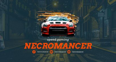 Twitch Banner Maker Featuring a Racing Car 1457b