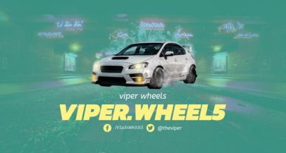Car Games Twitch Channel Banner Template 1457e