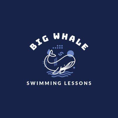 Swimming Logo Maker for Swimming Lessons 1579c