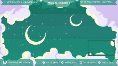 Twitch Overlay Maker with a Night Sky Pixel Art Background 1250d