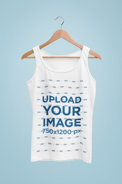 Mockup of a Women's Tank Top On a Hanger 27728