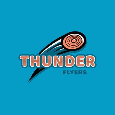 Sports Logo Creator for a Junior Frisbee Team 2225d