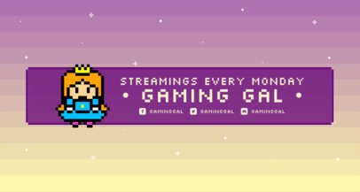 Twitch Banner Generator with an 8-Bit Gradient Surface 1452c
