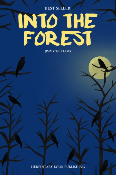 Horror Book Cover Maker with a Dark Forest Background 527a