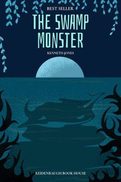 Horror Novel Book Cover Maker for a Monster Story 527c