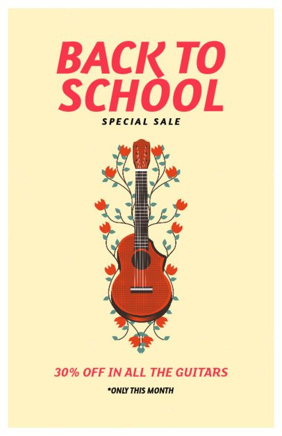 Musical Instruments Sale on Back to School Flyer Template 192f