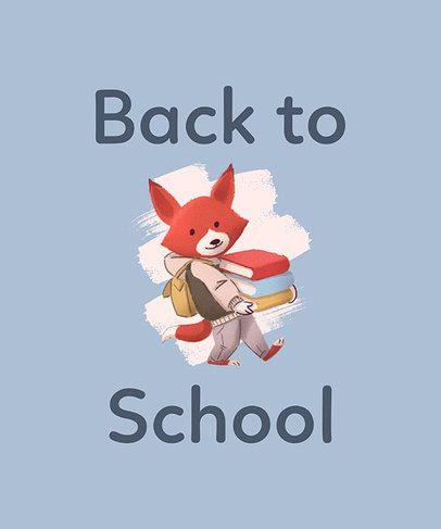 Back-To-School T-Shirt Design Maker with Preschooler Animal Illustrations 1520