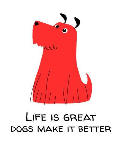 T-Shirt Design Maker Featuring a Furry Dog Graphic 1517e