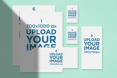 Stationery Mockup with a Solid Background 170-el