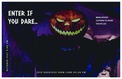 Spooky Halloween Event Online Flyer Maker 423g