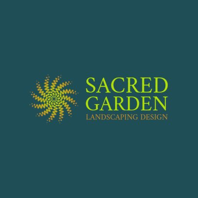 Landscaping Logo Maker with an Abstract Illustration 1435f