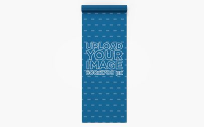 Yoga Mat Mockup Seen from Above 28375
