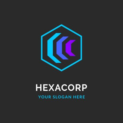 Corporate Logo Template with Abstract Geometric Shapes 2297e