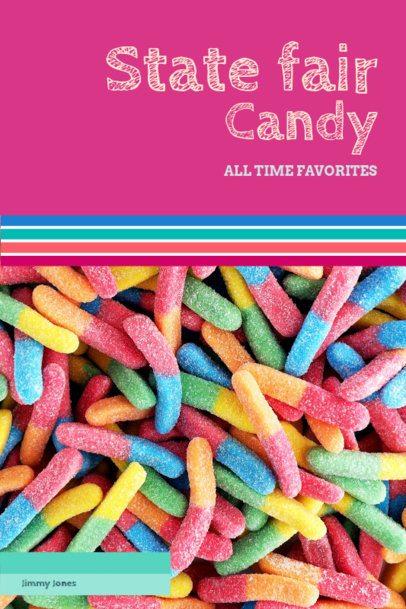 Colorful Cookbook Cover Design Template 926a