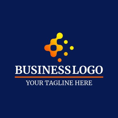 Business Logo Template Featuring a Dotted Futuristic Letter Graphic 1517g