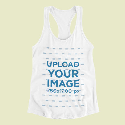Mockup of a Racerback Tank Top Lying on a Solid Color Surface 116-el
