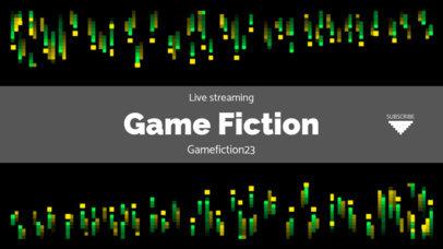 Retro YouTube Banner Generator with Pixel Art Patterns 1615c