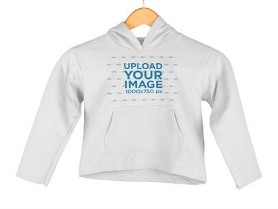Clothing Mockup of a Kid's Hoodie on a Hanger a9151