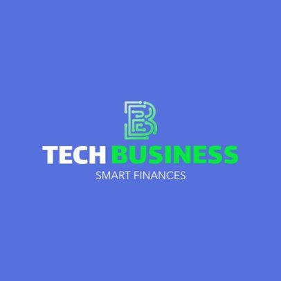 Tech Logo Template for a Financing Business 1141j 2342