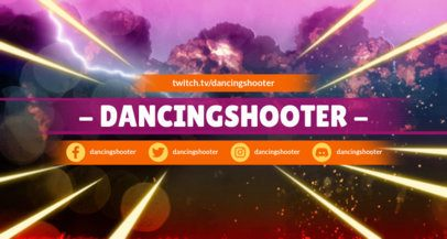 Battle Royale Inspired Twitch Banner Maker Featuring Explosion Graphics 1458f-1648