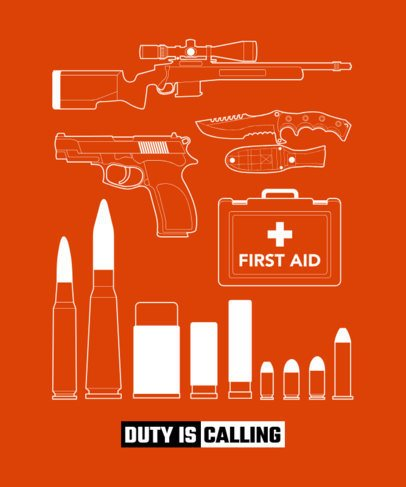 T-Shirt Design Maker with Illustrations Inspired in Call of Duty 1630a