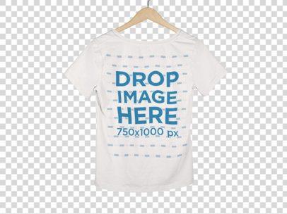 Back of a Women's V-Neck T-Shirt Mockup on a Hanger a9155