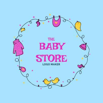 Baby Apparel Logo Design Maker with Bird Icons 2352d