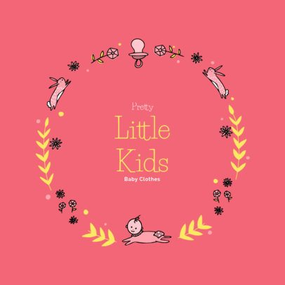 Logo Design Template for a Little Kids Clothing Store 2352f