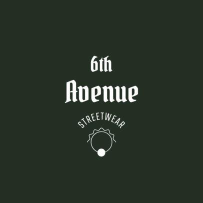 Streetwear Brand Logo Generator with Simple Illustrations 2355g