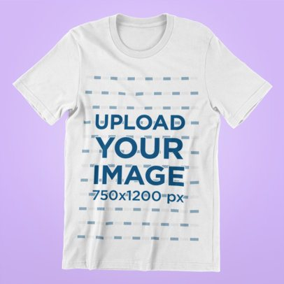 Mockup of a T-Shirt Placed over a Minimalist Surface 165-el