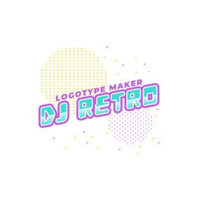 Simple Online Logo Generator for a Retro DJ 2351d