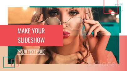 Slideshow Maker for a Facebook Cover with Animated Squares 1542