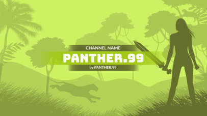 YouTube Banner Template with Illustrations for Adventure Gaming Channels 1672e
