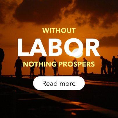 Online Banner Maker Honoring Labor Day 16639f-1692