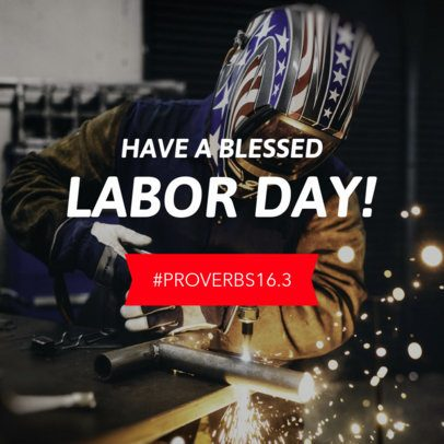 Banner Maker for Banner Maker for Labor Day with a Bible's Verse 16639h-1692