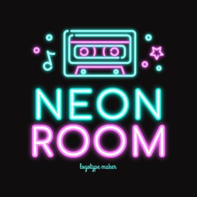 Nightclub Logo Template Featuring Vibrant Neon Graphics 2413