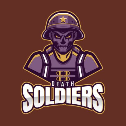 Gaming Logo Maker Featuring a Deadly Soldier Character Illustration 2449a