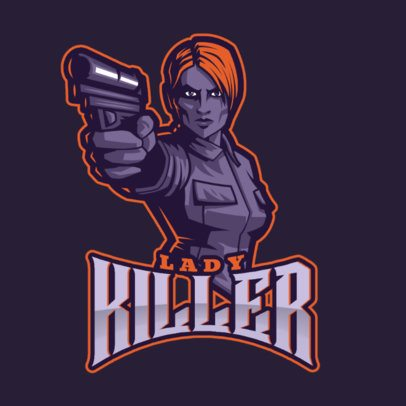 Counter-Strike-Inspired Logo Generator with a Female Character Illustration 2449p